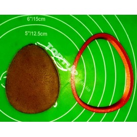 Пластиковая вырубка Яйцо 10см