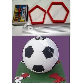 Набор вырубок Футбольный мяч, d1-4,5см, d2-5,5см
