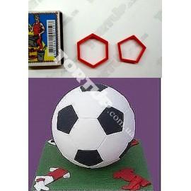 Набор вырубок Футбольный мяч, d1-3см, d2-2,5см