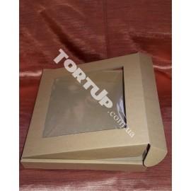 Коробка для пряника Ретро с окном 200*200*30