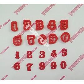 Пластиковая вырубка цифры Консуэла, набор 0-9 размер 17мм
