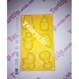 Форма силиконовая детский набор, фигура 8см
