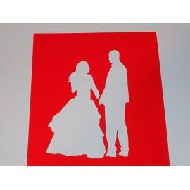 Трафарет №34 Свадебная пара, 9см