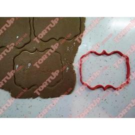 Пластиковая вырубка Рамка прямоугольная №1, 12см