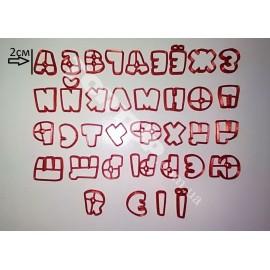 Пластиковая вырубка буквы Ералаш + укр буквы, 2см (36 букв)
