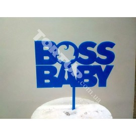 Топпер пластиковый Baby Boss голубой, 12*7см, ножка 5,5см