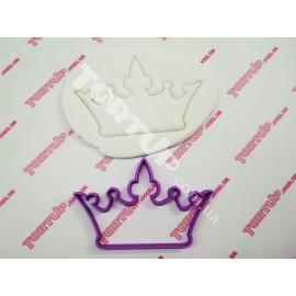 Пластиковая вырубка Корона 12*8,5см