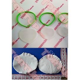 Пластиковая вырубка лепесток розы набор 3шт, 6см, 5см, 4см