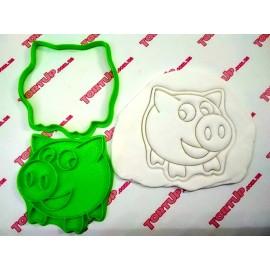 Пластиковая вырубка Свинка с улыбкой, 10см