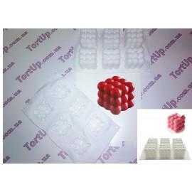 Силиконовая форма Кубик молекул 6шт, 1 куб 6*6см