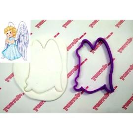 Пластиковая вырубка Ангел №1, 12см