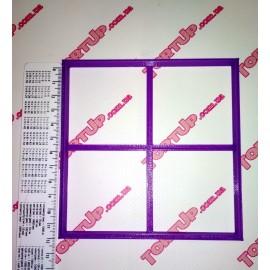 Пластиковая вырубка Рамка квадрат, 11,5см
