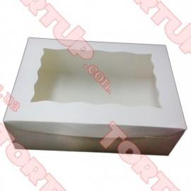 Коробка глянец для пирожных + окно 250*170*80мм