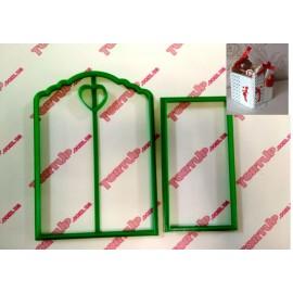 Пластиковая вырубка Коробка с сердцем 1*/10,5см и 6*12см