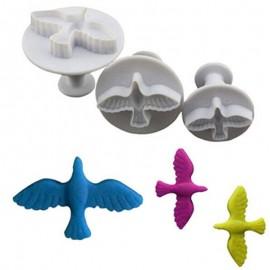 Плунжер для мастики Голуби из 3 штук, размер 35, 45 и 50мм