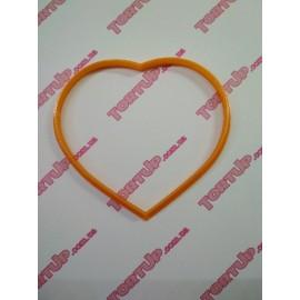Пластиковая вырубка Сердце округлое (смайлик без оттиска), 12см