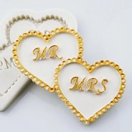 Молд Mr and Mrs, размер 9см