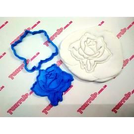 Пластиковая вырубка без оттиска Роза 1, 7см