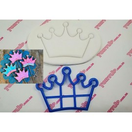 Пластиковая вырубка Корона №2 ширина 12см