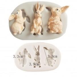 Молд 3 кролика