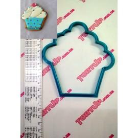 Пластиковая вырубка Кекс, 12см