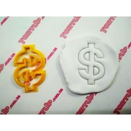 Пластиковая вырубка Доллар 5см