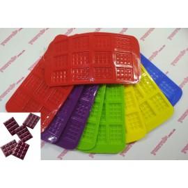 Форма силиконовая цветная мини шоколадки размер 1 плитки 3.5/2.5см