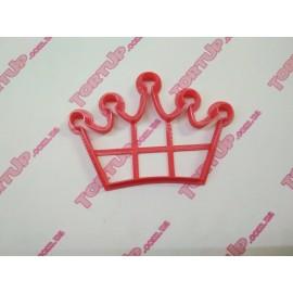 Пластиковая вырубка Корона №2 ширина 10см