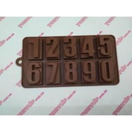 Форма силиконовая цифры в квадрате размер цифры 4.5см