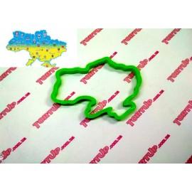 Пластиковая вырубка Карта Украины 12см