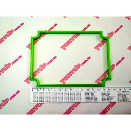 Пластиковая вырубка Рамка прямоугольная №5, 14см, высота 10см