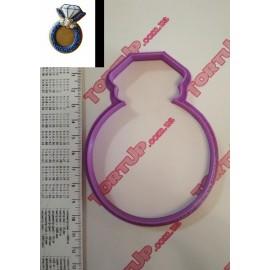 Пластиковая вырубка Кольцо, 10см