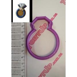 Пластиковая вырубка Кольцо, 6см