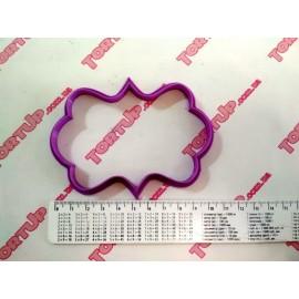 Пластиковая вырубка Рамка прямоугольная узор №4, 10*6см