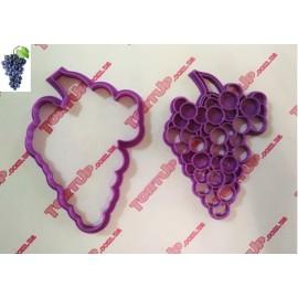 Пластиковая вырубка без оттиска Гроздь винограда 12см