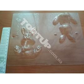 Форма для шоколада 3D Зайчик, размер зайчика 15,5*8,5см