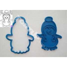 Пластиковая вырубка без оттиска Пингвин №2 12см