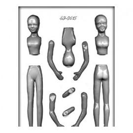 Форма для шоколада и мастики Женщина 19см