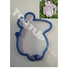 Пластиковая вырубка Мышка №4 12см