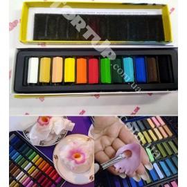 Пастель, замена Сухим краскам-пыльца, набор 12 цветов