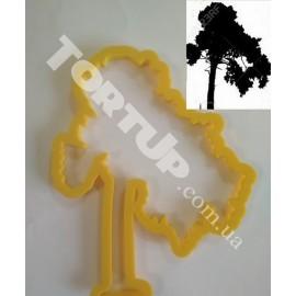 Пластиковая вырубка силуэт Дерево №1 высота 13см