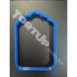 Пластиковая вырубка Рамка прямоугольная с узором №5 9*6см