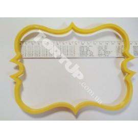 Пластиковая вырубка Рамка прямоугольная узор №6 17*12.5см
