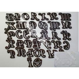 Пластиковая вырубка Алфавит прописной русский+укр буквы, (35 букв) 2,5см