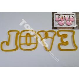 Пластиковая вырубка  LOVE набор №2  высота букв 8см