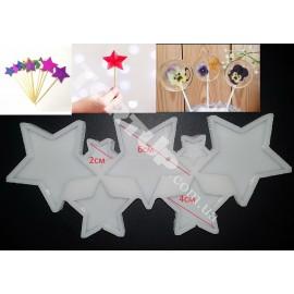 Молд силиконовый для леденцов Звёзды(7шт)  6см,4см,2см
