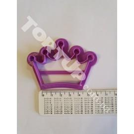 Пластиковая вырубка Корона №2 7см (крайние точки)