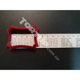 Пластиковая вырубка Рамка прямоугольная узор №9, ширина 5см высота 3.5см