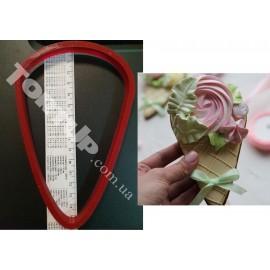 Пластиковая вырубка  Мороженное №1 15см