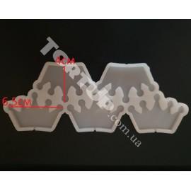 Молд силиконовый для леденцов Корона№1, 6,5см, 5шт на планшете